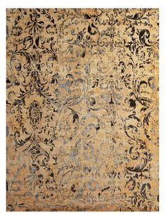 Gold Contemporary Rug, Exclusively at The Rug Warehouse, Los Angeles