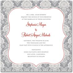 Damask Twist:Smoke  Wedding Paper Divas