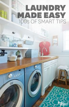 Laundry Made Easy: 100s of Smart Tips You spend a lot of money on clothing and linens, so you want to launder them properly to ensure they continue to look new years after you take the tags off. We'll help you decode laundry cycles and learn which ones you can ig