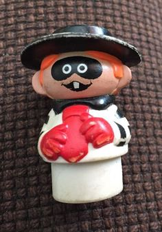 Vintage 1989 Fisher Price Little People Hamburgler from Mcdonalds Rare