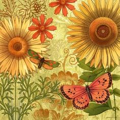 Autumn Botanical Sunflower by Jennifer Brinley | Ruth Levison Design