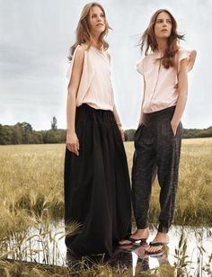 Sweat pants I can get on board with     Chloe designer Clare Waight Keller created a resort collection filled with must-have pants, including this heather grey pair.  The style breaks trouser boundaries by appearing both polished and relaxed.