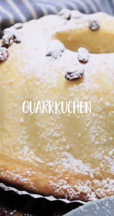 Saftiger Quarkkuchen Super airy and delicious from Grandma's recipe book. Bestimmt You will definite Peanut Butter Dessert Recipes, Dessert Recipes For Kids, Chocolate Chip Recipes, Easy Cookie Recipes, Easy Desserts, Chocolate Lava, Cake Recipes, Bon Dessert, Food Cakes