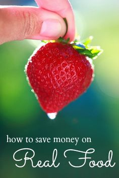 How to Save Money on Real Food from http://FrugalLivingNW.com