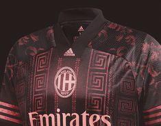 AC Milan on Behance Football Design, Football Kits, Versace Pattern, Behance, Soccer Shirts, Ac Milan, Workout Shorts, Golden Age, Gears