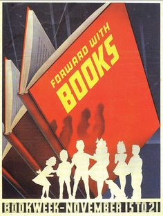 Official Children's Book Week poster, 1942, F. Hasse, (Dates Unknown)