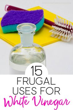 Who knew there were so many ways to use white vinegar! This helpful list is a must-read for any frugal homemaker.