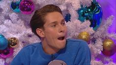 Have you ever tried to say something but not shown your teeth?  It's very difficult as Professor Green proves in this preview clip from our festive special!