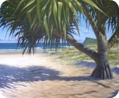 free painting lessons, how to paint a beach landscape in acrylics
