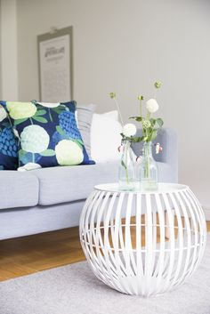 Apila Cushion Cover | Designed by Liina Harju, the Apila (Clover) pattern is like a delicious candybag. Relaxed and modern Apila pillow case creates summery feeling to your home and cottage.