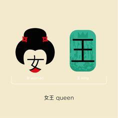 Chineasy #queen #kanji