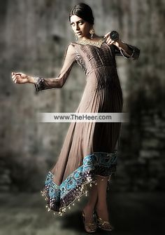 http://theheer.com/store/products.php?product=AK7583-Umber-Crinkle-Chiffon-Raw-Silk-High-Low-Hem-Anarkali