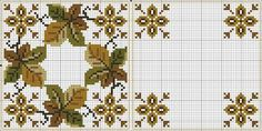 Cross-stitch Fall Leaves Biscornu... no color chart available, just use the pattern chart as your color guide.. or choose your own colors...   Картинка