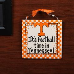 Tennessee Volunteers 8'' x 8'' Ceramic Tile Sign