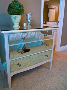 6 Easy, DIY Ways to Update an Old Dresser: DIY Mirrored Dresser