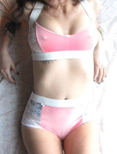 3c654fb481 Sheer Lingerie Set womens clothing pink by RechercheClothing White Lace  Lingerie