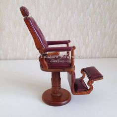 1-12-Dollhouse-Miniature-Furniture-Handcrafted-Leather-Barber-Chair-Beauty-Salon