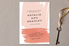 In turq/yellow - Bold Brushstrokes Wedding Invitations by Stacey Meacham at minted.com