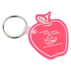 Take a sweet bite of success and budget-friendliness with these custom apple key tags!