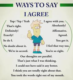 Different ways to say 'I AGREE' 👍
