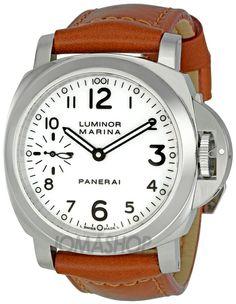 Panerai Luminor Marina White Dial Mens Watch PAM00113 $5,995