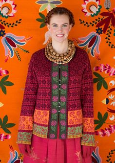 """Muhu"" cardigan in cotton  wool – Inspired by Muhu – GUDRUN SJÖDÉN"