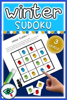 Winter season fun Sudoku games for kids. These Sudokus have been specially designed for beginning puzzle solvers. Include 2 puzzles with different images with three levels of difficulty: easy, medium and hard. Plus answers on separate pages. Easy Games For Kids, Online Games For Kids, Winter Activities For Kids, Hard Puzzles, Puzzles For Kids, Teaching Activities, Fun Learning, Teaching Resources, Second Grade Games