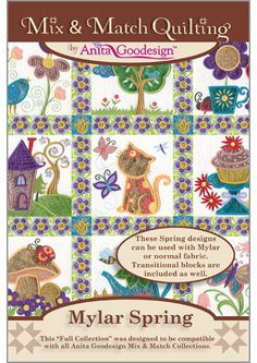 Maranges Goodesign Mylar Spring This Collection is included with our Quilting Club Members for the month of February. Embroidery Machines For Sale, Machine Embroidery Projects, Embroidery Software, Embroidery Supplies, Embroidery Fonts, Applique Patterns, Applique Quilts, Quilt Patterns, Anita Goodesign