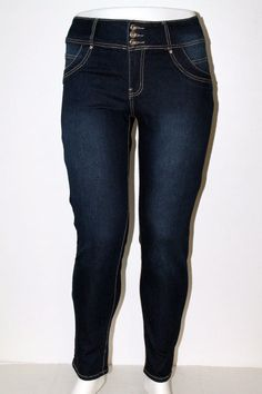 Womens KABA High waist look Plus Size Jeans RCB-S2926PM #KABAJEANS #StraightLeg