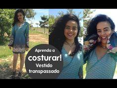 Aula 18 Molde vestido transpassado Alana Santos Blogger - YouTube