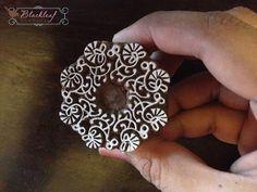 Wood Block Printing Hand Carved Indian Wood Textile Block Stamp Circle Floral Frame