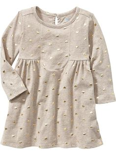 Terry-Fleece Tee Dresses for Baby Product Image