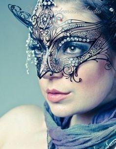 Gossip Girl Serena Masquerade Mask -  Serena Van Der Woodsen Luxury Filigree laser cut Metal Masquerade Ball Mask on Etsy, $34.95