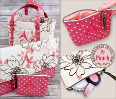 Monogrammed Travel Trio - The Zippered Pouch: Janome America | Sew4Home