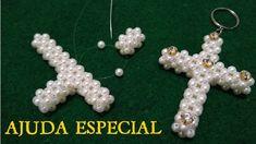Lace Jewelry, Jewelery, Bead Crafts, Jewelry Crafts, Christian Crafts, Beaded Cross, Art N Craft, Beaded Skull, Cross Earrings