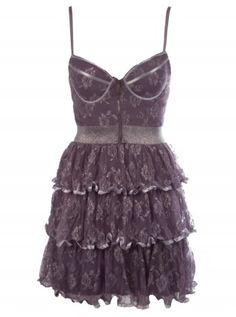 Lace Lurex Corset Dress - Vanity