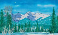 Mica Mountain Silk Painting by Warren Hartz