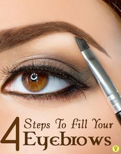 4 Simple Steps To Fill Your Eyebrows