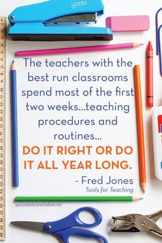 Back to School: Guided Discovery of School Tools. Put in the work at the beginning of the year to teach these procedures and reap the benefits all year long.