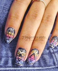 Cali Girl Tribal #NailArt