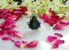 Silver Rings – 925 Sterling Silver - Black Onyx Ring For Women  – a unique product by 925silvercollection on DaWanda