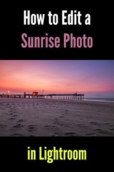 How to Edit a Sunris How to Edit a Sunrise Photo in Lightroom. Adobe Lightroom tutorial for working with landscape and nature photos. Photoshop For Photographers, Photoshop Photography, Photography Tutorials, Digital Photography, Photography Ideas, Beginner Photography, Photography Books, Nikon Photography, Portrait Photography