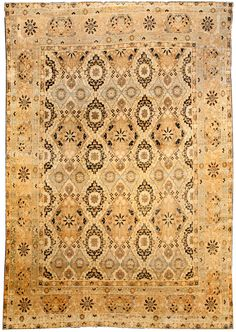 Antique Rug Persian Carpet with floral ornaments. Interior living room decor with century antique rugs hand knotted wool Persian Carpet, Persian Rug, Staircase Makeover, Winter Home Decor, Magic Carpet, Beige, Carpet Colors, Soft Furnishings, Rugs On Carpet