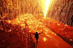 Fireworks shower festival goers with light at a celebration in Thailand. (Photograph by Cann Aripai, National Geographic Your Shot, Thich Nhat Hanh, Cannes, Amazing Photography, Travel Photography, Light Photography, Photography Ideas, Fireworks Pictures, Fireworks Festival, Lolo