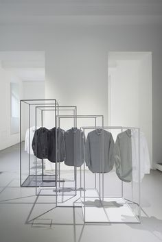 space dipped shirts for COS | design by Nendo