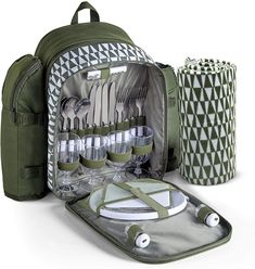 Choose the best backpack picnic set for your next outdoor adventure. These picnic backpack sets are super portable with comfortable padded straps, stainless steel cutlery, insulated wine holders, waterproof cooler compartments and more. They're lightweight and portable while being stylish too - perfect for your next picnic, festival or camping trip. They make great gifts for friends or family who love being outdoors too. #picnic #picnicinspiration #backpackpicnic #picnicbackpack Wicker Hamper Basket, Wicker Picnic Basket, Picnic Backpack, Backpack Bags, Picnic Essentials, Best Travel Gifts, Stainless Steel Cutlery, Picnic Set, Cool Backpacks