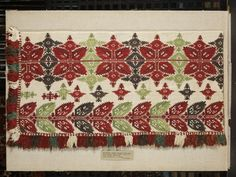 Bed valance | | V&A Search the Collections Bed Valance, Folk Embroidery, Textile Fabrics, Bohemian Rug, Elsa, Diy And Crafts, Cross Stitch, Traditional, Sewing