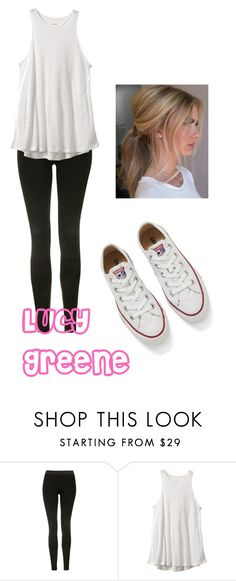 """""""Lucy Greene- Outfit 2"""" by ariauna-smith on Polyvore featuring Topshop, RVCA and Converse"""