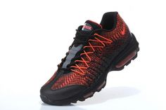 official photos 50b21 66852 New Arrival Nike Air Max 95 Hyp Prm 20 Anniversary Ultra Jacquard Black  Bright Orange Shoe