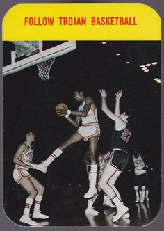1971-72 UNIVERSITY OF SOUTHERN CALIFORNIA TROJANS  BASKETBALL SCHEDULE FREE SHIP #Pocket #Schedule